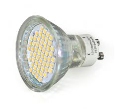 10x Ledspot, GU10 fitting 3 Watt, warm wit licht (3000k)