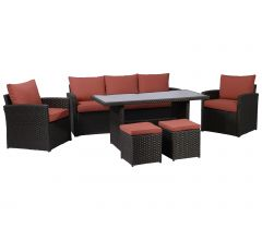 Loungeset - dinnerset California 2