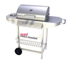 Gas barbecue grill zilver