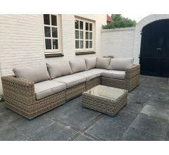 Loungeset Florida met halfrond wicker
